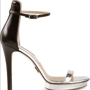 MK Kors COLLECTION Doris Mirrored Leather Sandals